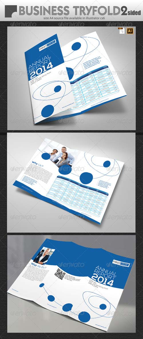 GraphicRiver Business Report TriFold Design
