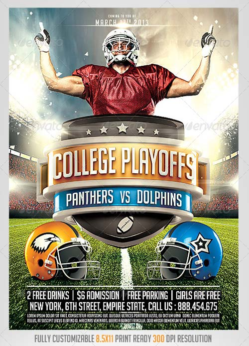 GraphicRiver Football Big Game Flyer Template