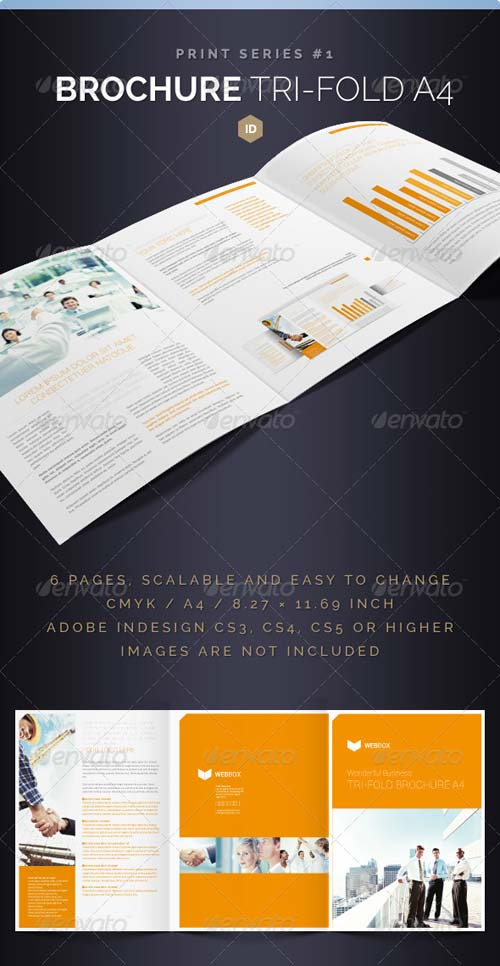 Graphicriver brochure tri fold a4 series 1 for A4 tri fold brochure template