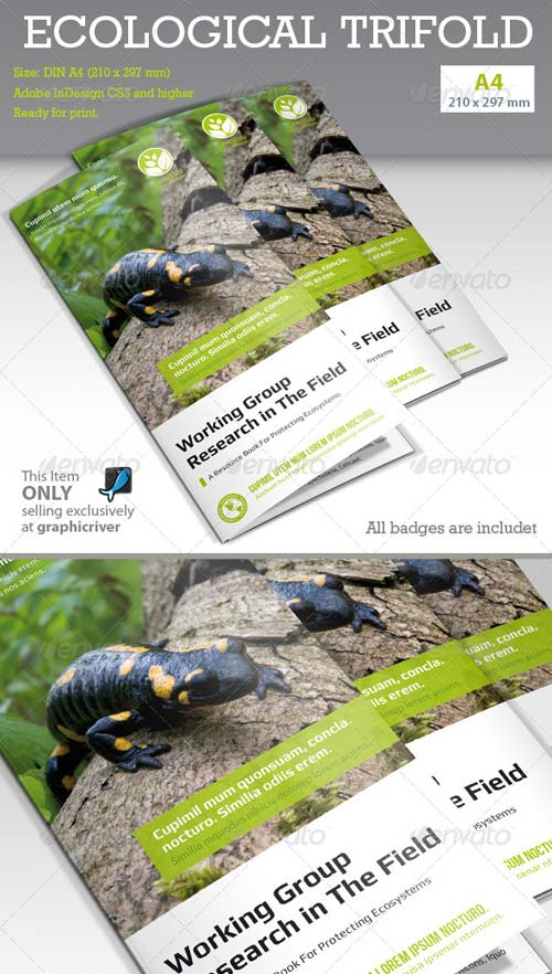 GraphicRiver Ecological Report Tri-fold