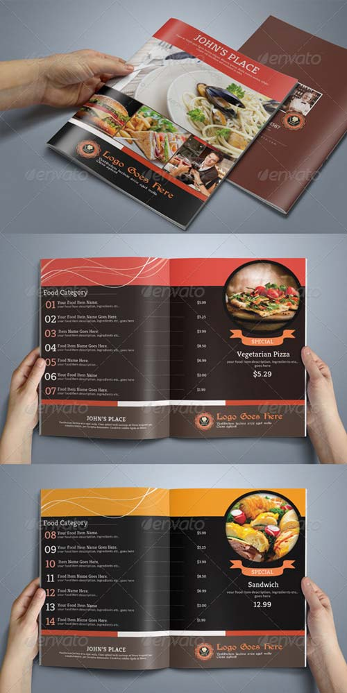 GraphicRiver 8 Pages Food Menu