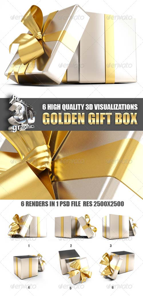 GraphicRiver Golden Gift Box