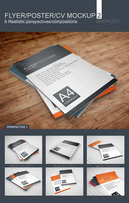 GraphicRiver Realistic Flyer/Poster/CV Mockup 2