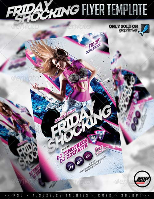 GraphicRiver Friday Shocking Flyer Template