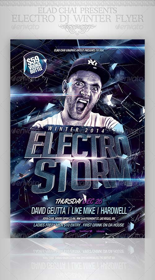 GraphicRiver Electro Dj Party Flyer Template