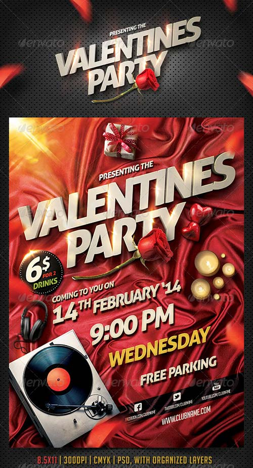 GraphicRiver Valentine Party Flyer Template