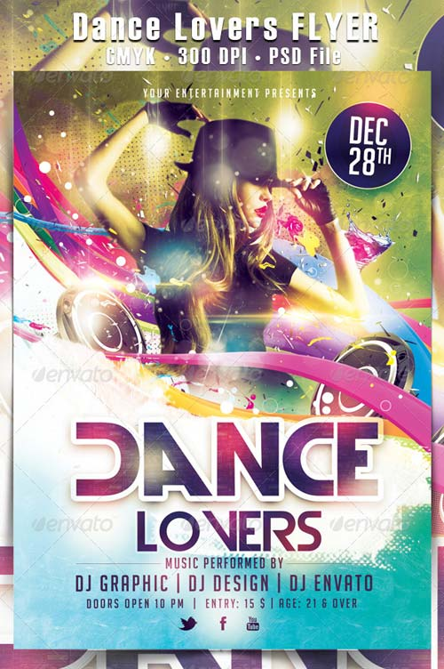 GraphicRiver Dance Lovers Flyer