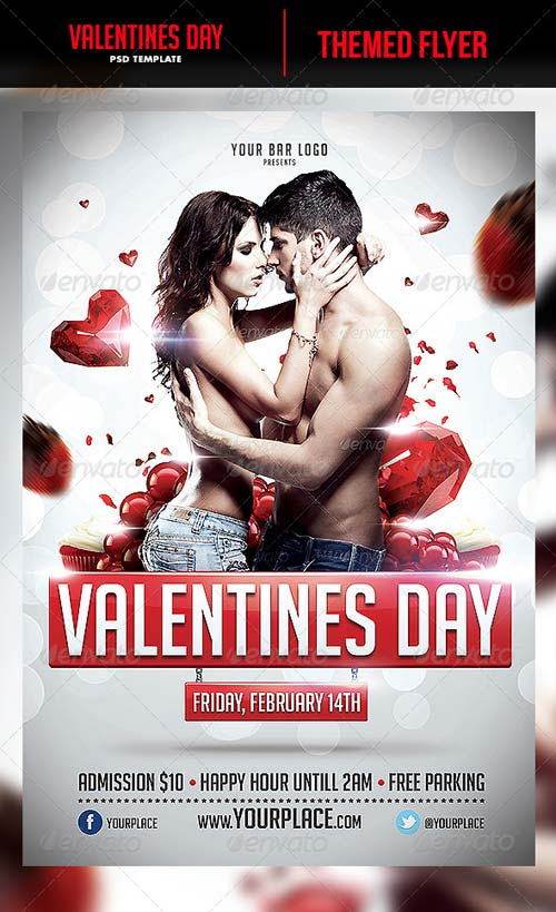 GraphicRiver Valentines Day Flyer Template