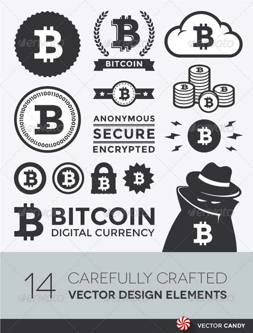 GraphicRiver Vector Bitcoin Design Elements and Labels
