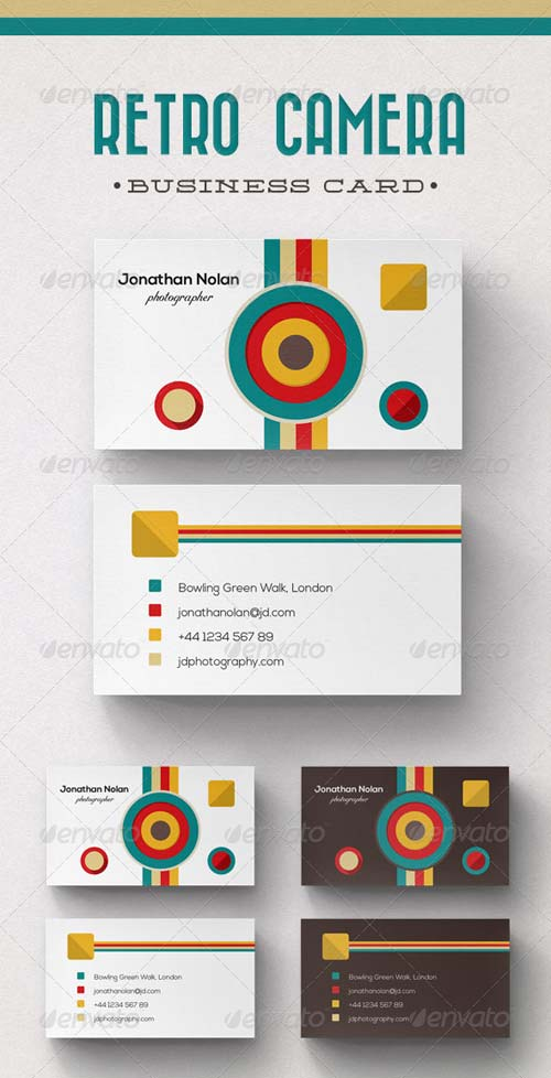 GraphicRiver Retro Camera Business Card