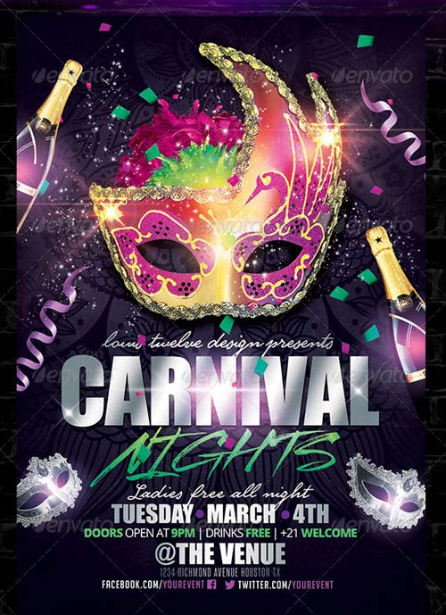 GraphicRiver Carnival Nights Flyer Template