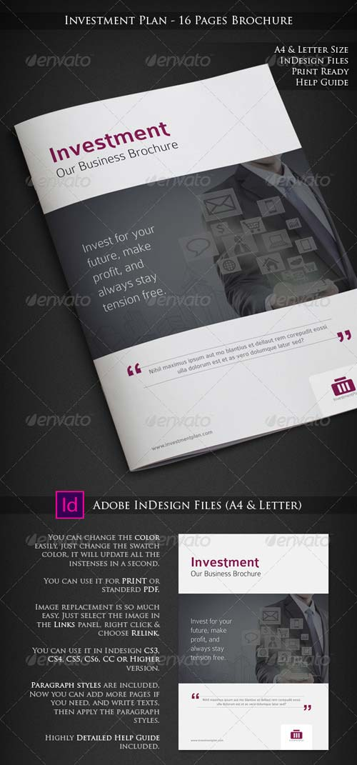 GraphicRiver Investment Plan - 16 Pages Business Brochure