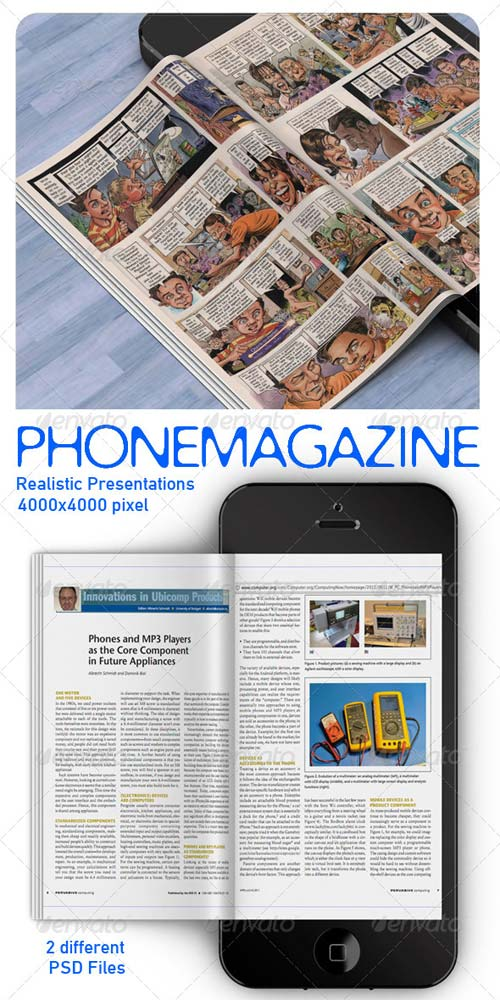 GraphicRiver Phone Magazine Mock Up