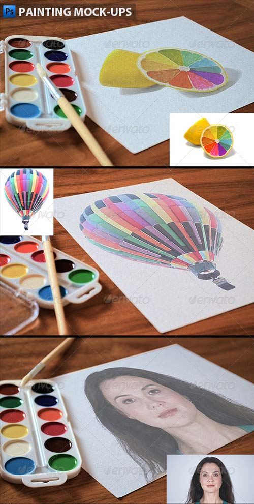 GraphicRiver Painting Mock-ups