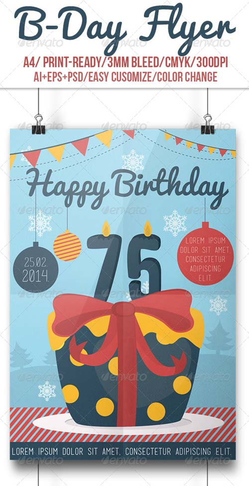 GraphicRiver B-Day Flyer