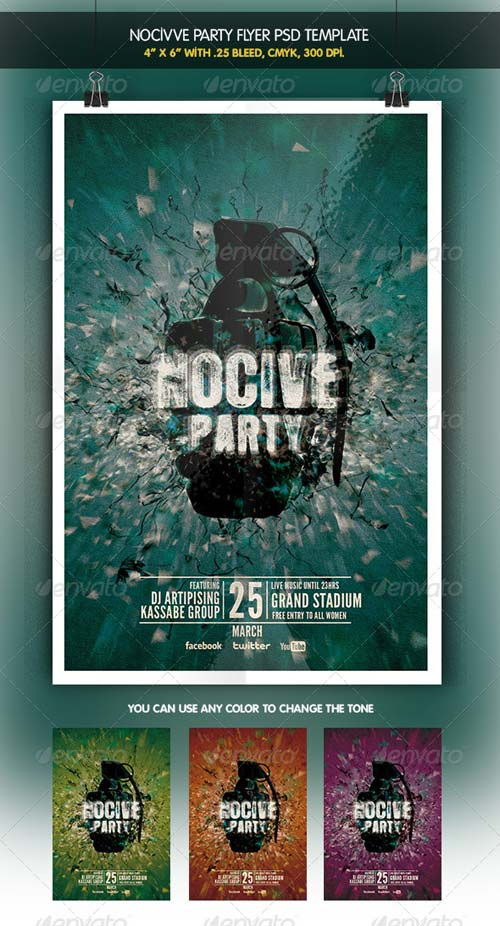 GraphicRiver Nocive Party Night Flyer