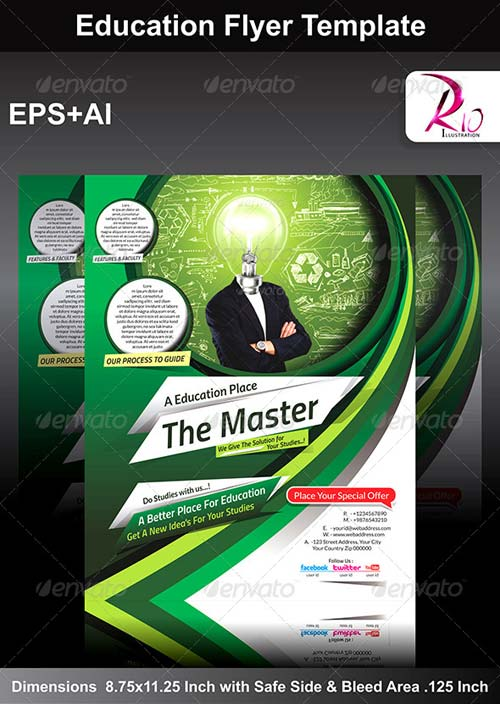 GraphicRiver Education Flyer Template