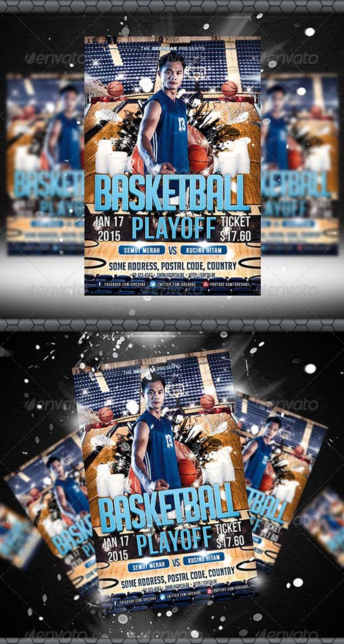 GraphicRiver Basketball Playoff Flyer Template