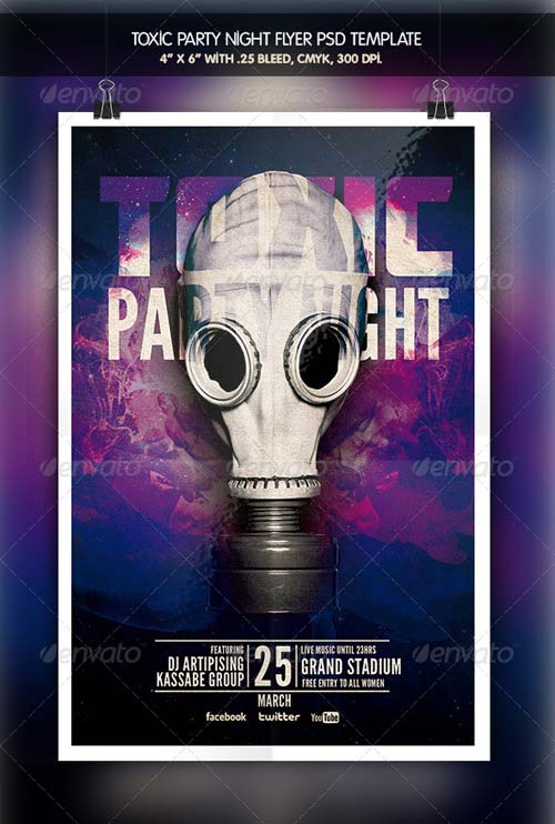 GraphicRiver Toxic Party Night Flyer