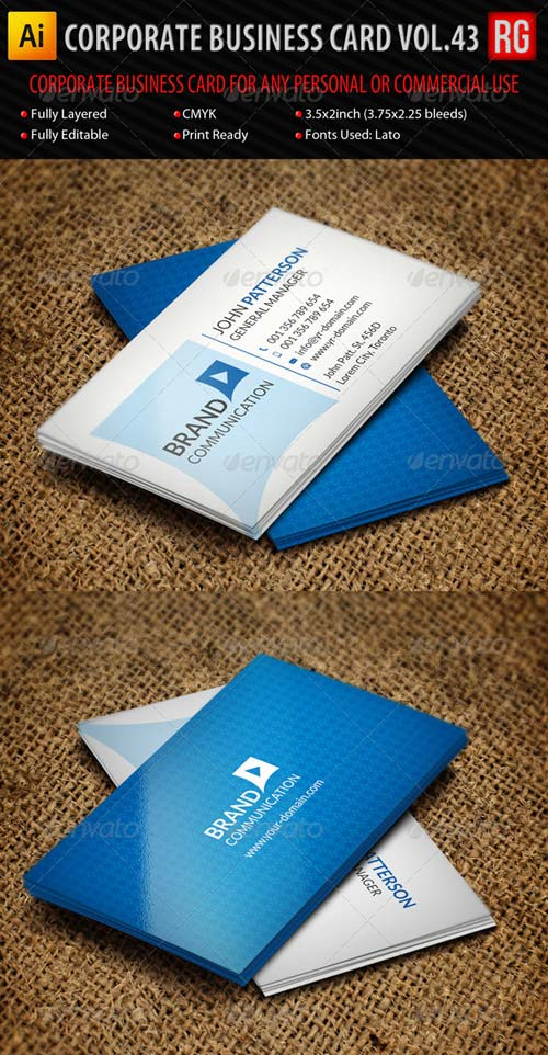 GraphicRiver Corporate Business Card Vol.43