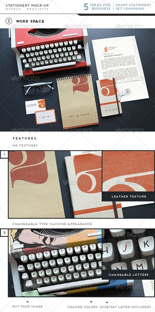 GraphicRiver Realistic Stationery / Branding Mock-Up