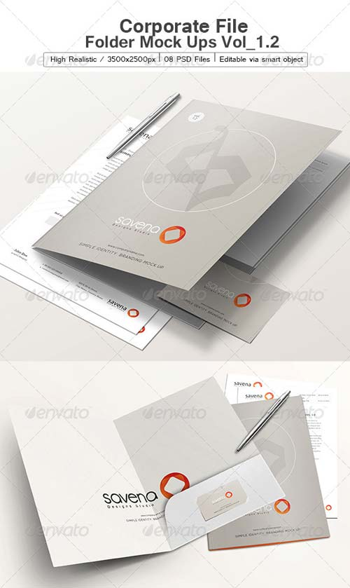 GraphicRiver Corporate File Folder Mock Ups Vol_1.2