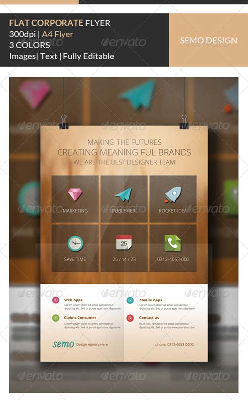 GraphicRiver Flat Corporate Flyer Template