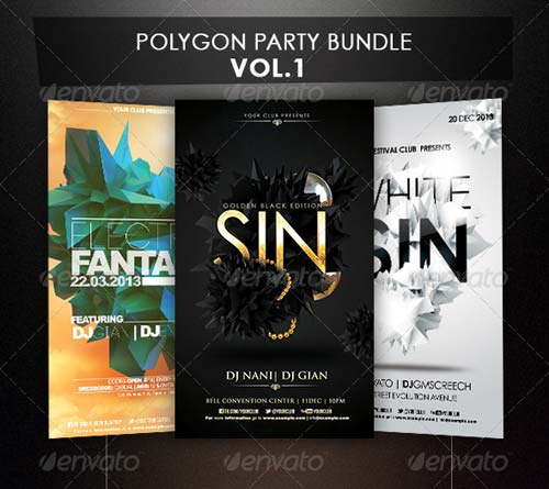 GraphicRiver Polygon Flyer Bundle