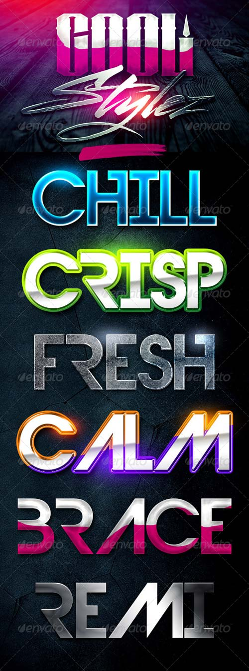 GraphicRiver Cool Stylez Varied Photoshop Layer Styles