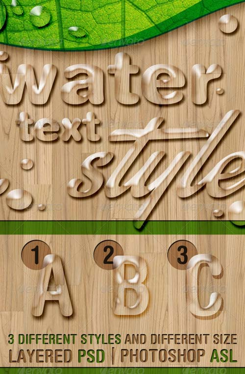 GraphicRiver Water Text Styles