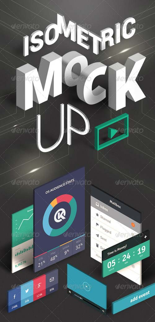 GraphicRiver Isometric Mock-UP Actions vol.2