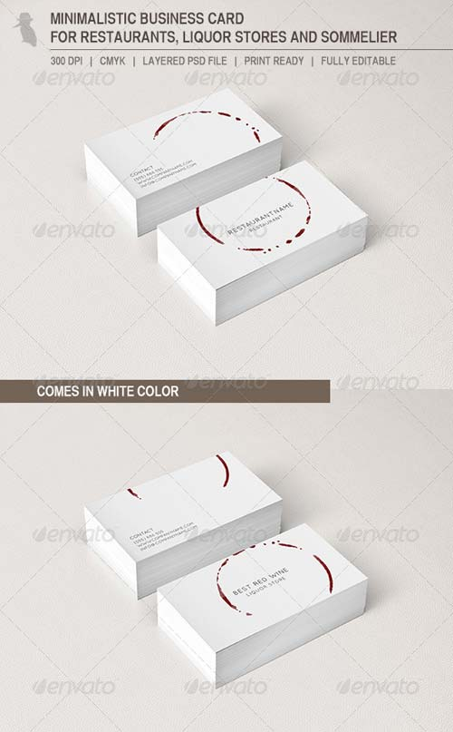 GraphicRiver Business Card for Restaurants and Liquor Stores