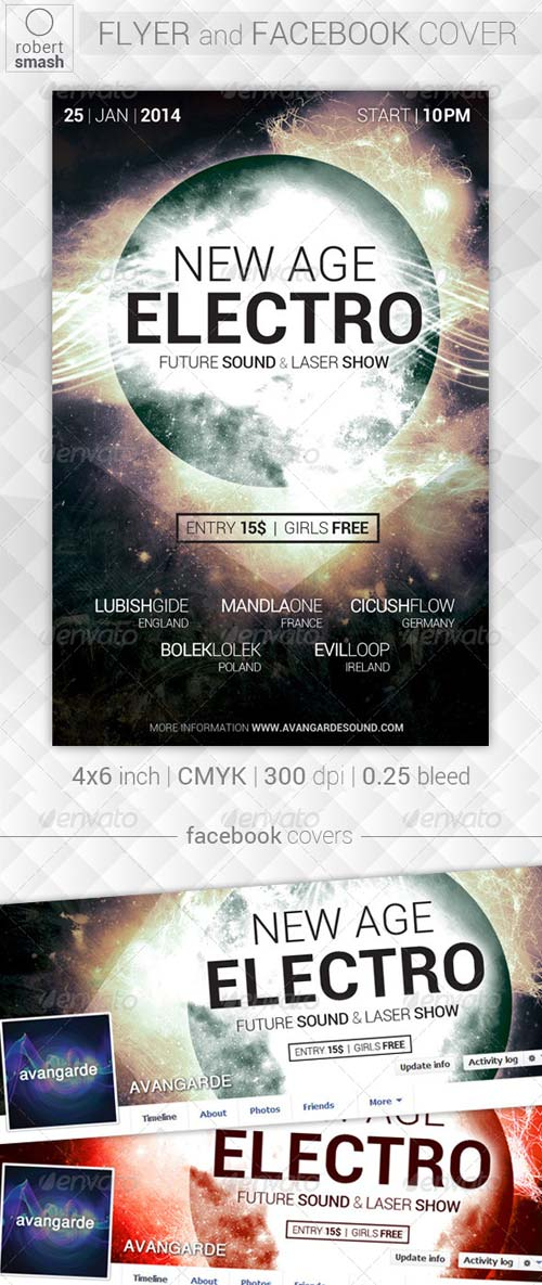 GraphicRiver New Age Electro Flyer v2