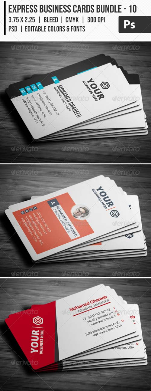 GraphicRiver Express Business Cards Bundle - 10