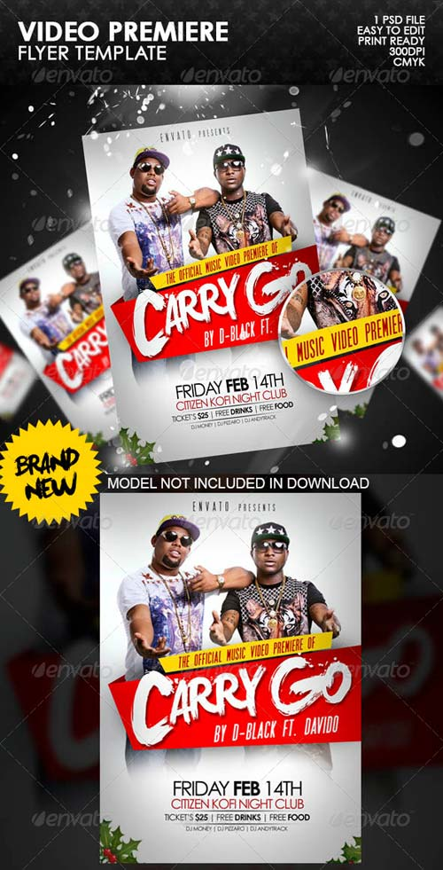 GraphicRiver Video Premiere Flyer Template