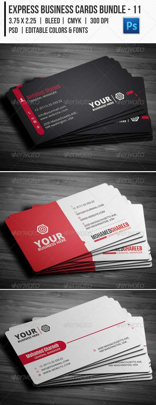 GraphicRiver Express Business Cards Bundle 11