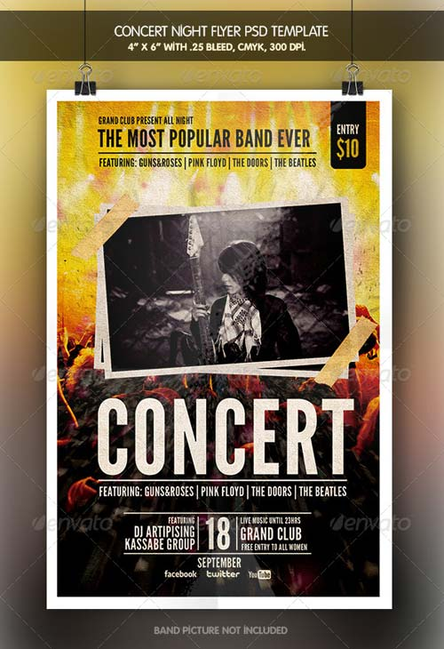 GraphicRiver Concert Night Flyer