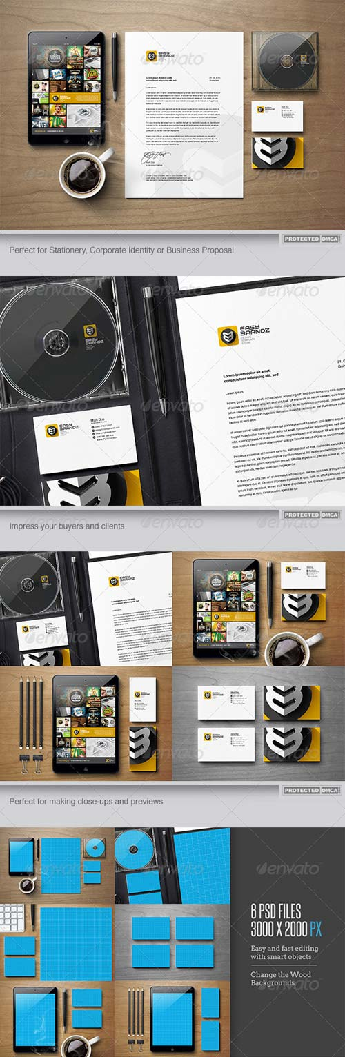 GraphicRiver Stationery Mockups Vol.01