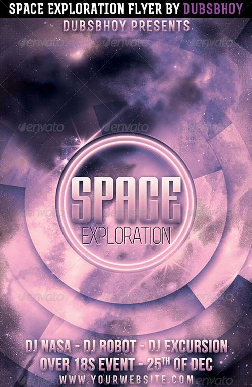 GraphicRiver Space Exploration Flyer
