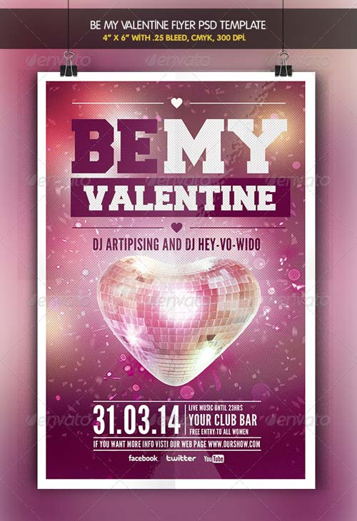 GraphicRiver Be my Valentine | Party Flyer Template