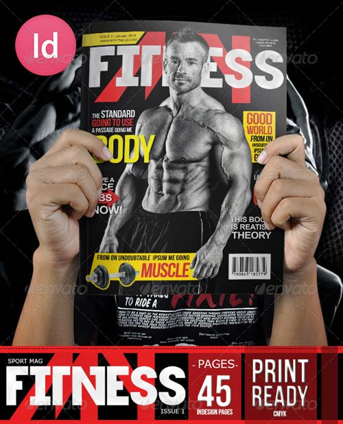 GraphicRiver Fitness Body Magazine Issue 2