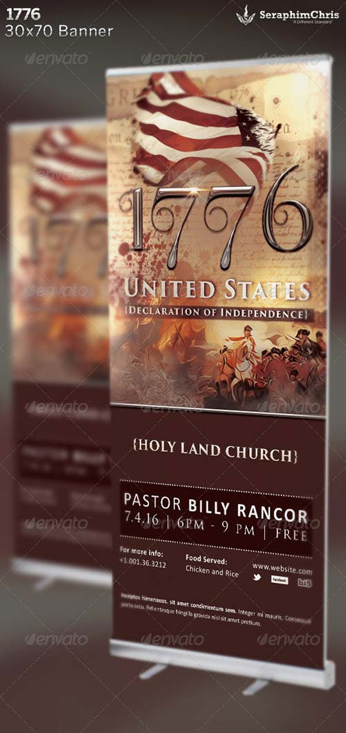 GraphicRiver 1776: Historical Banner Template