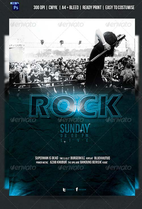 GraphicRiver KOPLAX - Rock Band Concert Flyer