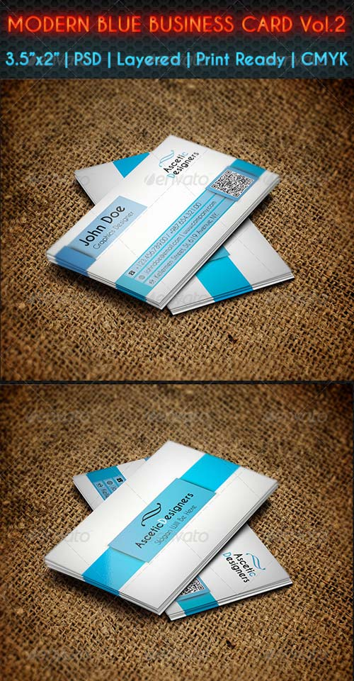 GraphicRiver Modern Blue Business Card Vol.2