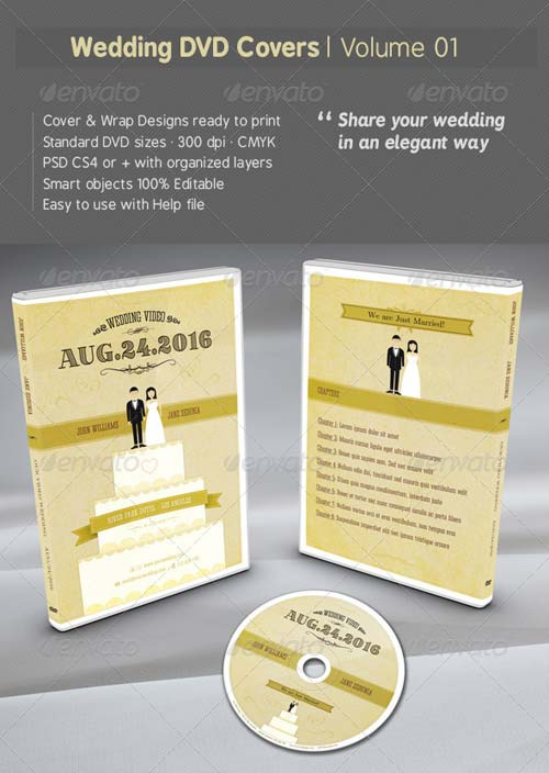 GraphicRiver Wedding DVD Covers - Volume 01
