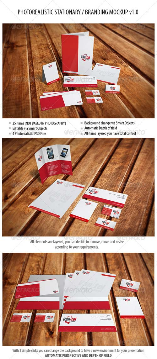 GraphicRiver Stationary / Branding Mockup vol 1.0