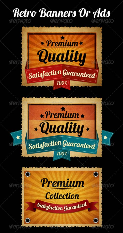 GraphicRiver Retro Banners or Ads