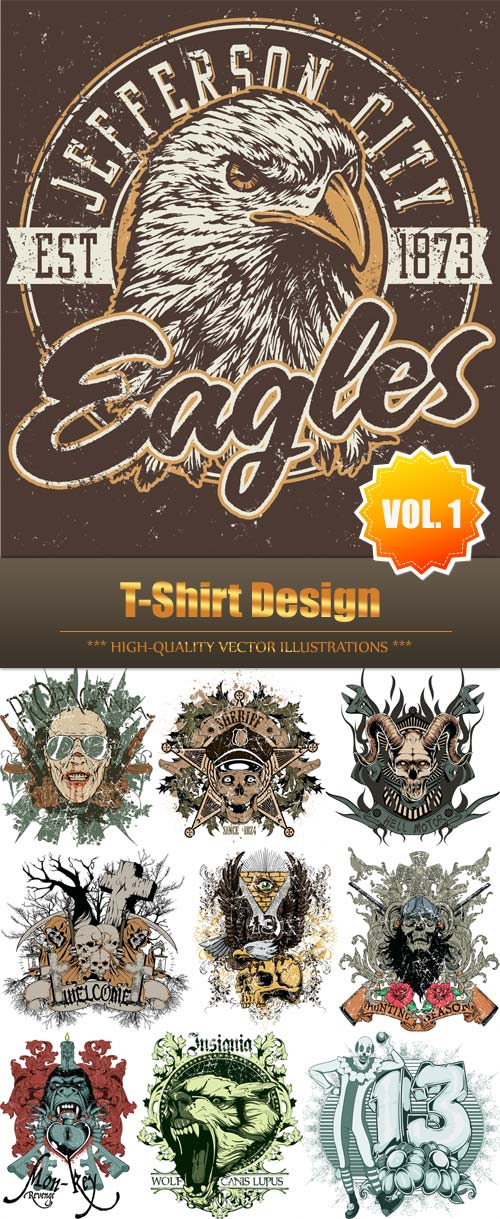 T-Shirt Design Vector Collection (Vol.1)
