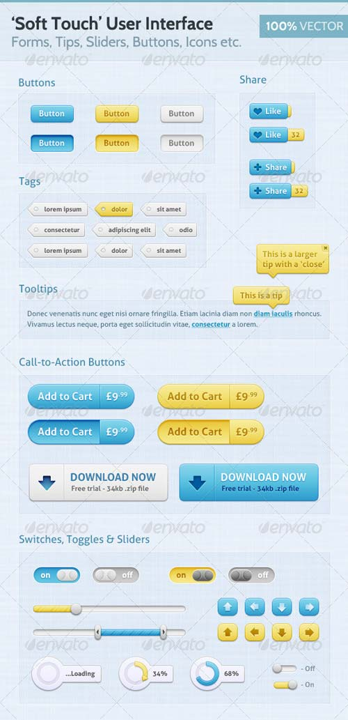 GraphicRiver Soft Touch - Premium User Interface (UI)
