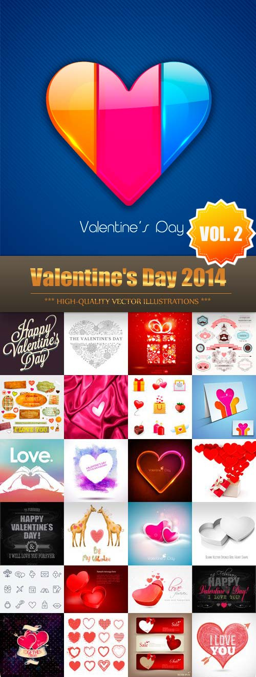 Valentine's Day 2014 Vector Collection (Vol.2)